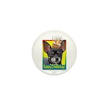 Birthday Cupcake - Chihuahua Mini Button (10 pack)
