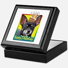 Birthday Cupcake - Chihuahua Keepsake Box