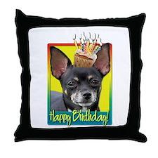 Birthday Cupcake - Chihuahua Throw Pillow