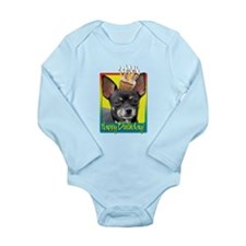 Birthday Cupcake - Chihuahua Long Sleeve Infant Bo
