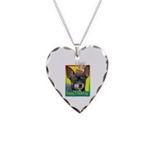 Birthday Cupcake - Chihuahua Necklace Heart Charm