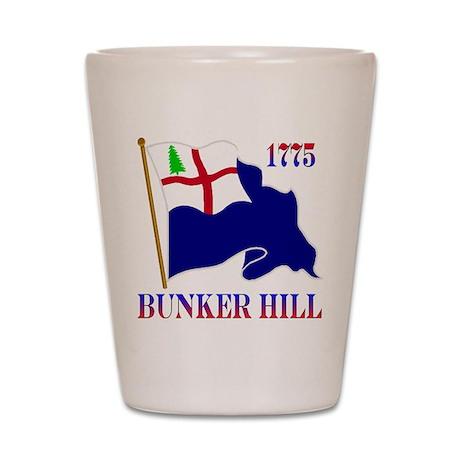 Battle of Bunker Hill Shot Glass