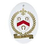 POCHE Family Crest Oval Ornament
