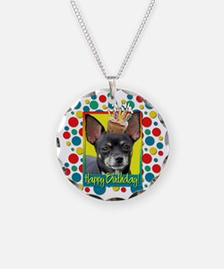 Birthday Cupcake - Chihuahua Necklace Circle Charm