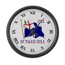 Battle of Bunker Hill Large Wall Clock