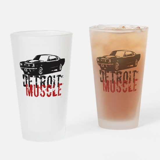 Detroit Muscle Drinking Glass