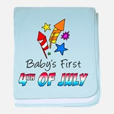 Baby's First 4th Of July baby blanket