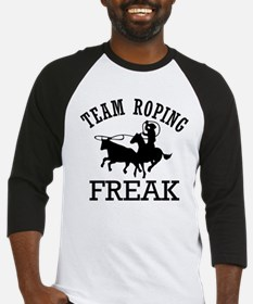 Team Roping Freak Baseball Jersey
