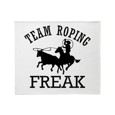 Team Roping Freak Throw Blanket