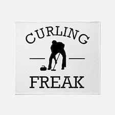Curling Freak Throw Blanket