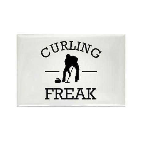 Curling Freak Rectangle Magnet