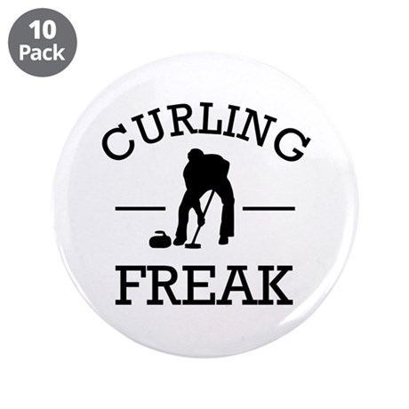 "Curling Freak 3.5"" Button (10 pack)"