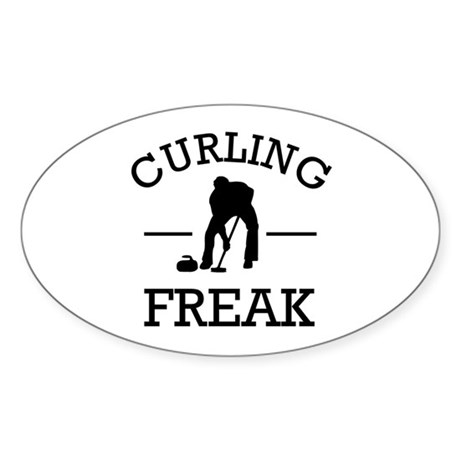 Curling Freak Sticker (Oval)