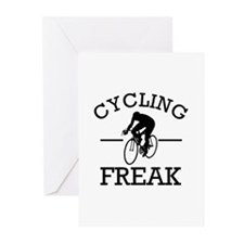 Cycling Freak Greeting Cards (Pk of 20)