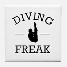Diving Freak Tile Coaster