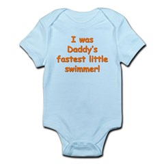 Dad's Fastest Swimmer Infant Bodysuit