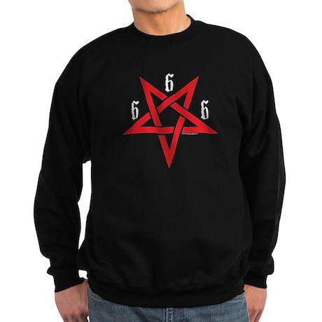 """666/Pentagram"" Sweatshirt (dark)"