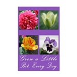 Grow a Little Bit Every Day Mini Poster Print