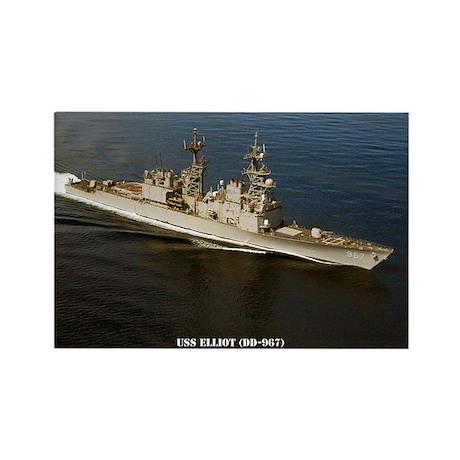 USS ELLIOT Rectangle Magnet