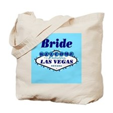 Blue Las Vegas Bride Tote Bag