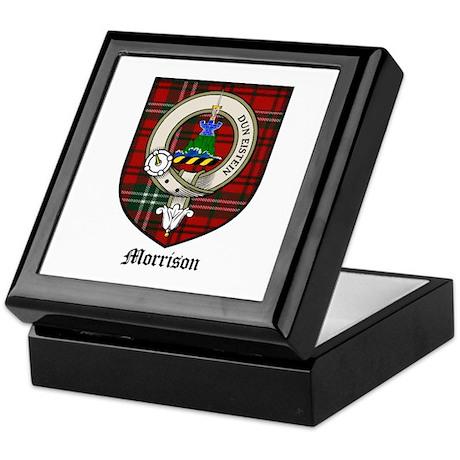 Morrison Clan Crest Tartan Keepsake Box