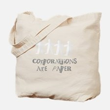 corporations are paper 01 Tote Bag