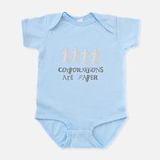 corporations are paper 01 Infant Bodysuit