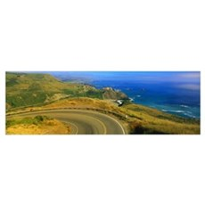Pacific Coast Highway CA Framed Print