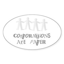 corporations are paper 01 Decal