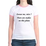 Snakes on this plane Jr. Ringer T-Shirt