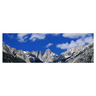 Mount Whitney Sierra Mts CA Poster