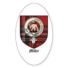 Miller Clan Crest Tartan Oval Decal