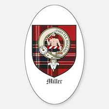 Miller Clan Crest Tartan Oval Decal