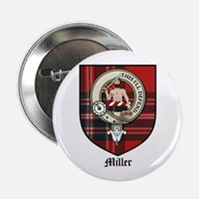 "Miller Clan Crest Tartan 2.25"" Button (10 pack)"