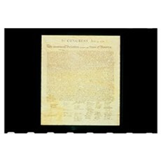 The Original Declaration of Independence Framed Print