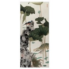 Lotus Pond with Sliced Shadow Poster