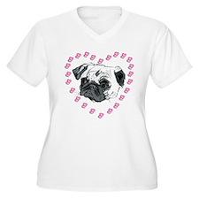 Hearts & Pug T-Shirt