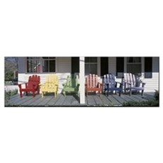Adirondack Chairs Porch Plymouth VT Poster