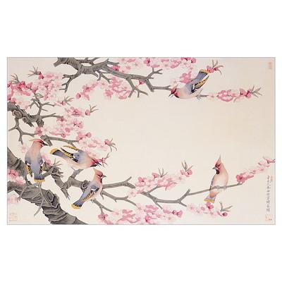 Singing Birds in Spring Poster
