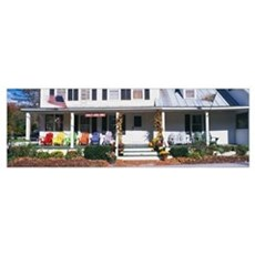 Porch with Colorful Chairs Poster