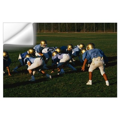 Junior Football Practice Wall Decal