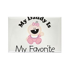 My Daddy Is My Favorite (girl Rectangle Magnet