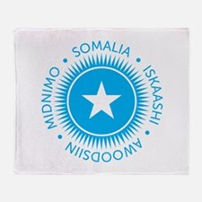 Somali language Throw Blanket