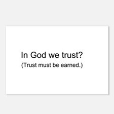 """In God We Trust?"" Postcards (Package of 8)"