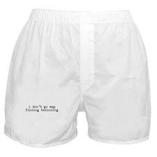 Map Finding Behinding Boxer Shorts