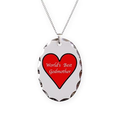 World's Best Godmother Necklace Oval Charm