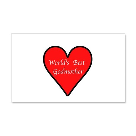 World's Best Godmother 20x12 Wall Decal