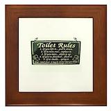 Bathroom rules Framed Tiles