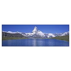 Switzerland, Zermatt, Matterhorn, Panoramic view o Poster