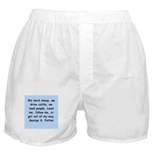 george s patton quotes Boxer Shorts
